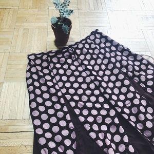 Vintage Skirts - VINTAGE • polka dot skirt